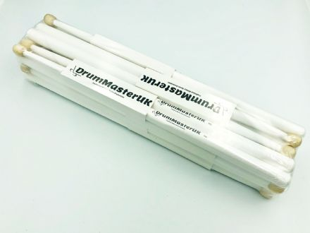 DrumMasterUK Drumsticks - White (Pack of 10)